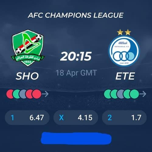 بازی استقلال و الشرطه عراق در لیگ قهرمانان آسیا 2021